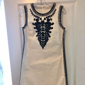 Brand New Tory Burch White Canvas Dress